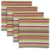 Set of 4 Holiday Stripe Napkins