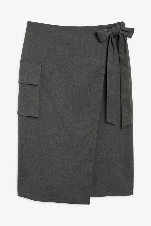 Monki Side tie skirt