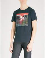 BOSS ORANGE Logo-print cotton-jersey T-shirt