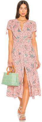 Poupette St Barth Bonnie Smocked Midi Dress