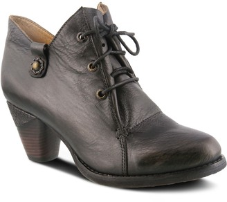 Spring Step L'Artiste by Lace-up Leather Shooties - Juliane