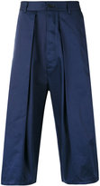 Sunnei pleated cropped trousers - men - Cotton - S