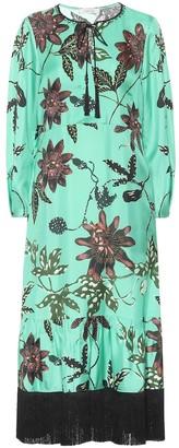 Schumacher Dorothee Floral silk-faille dress