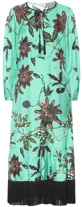 Dorothee Schumacher Powerful Flora floral silk-faille dress