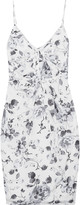 Zimmermann Gathered floral-print silk crepe de chine dress