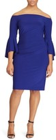 Lauren Ralph Lauren Plus Size Women's Bell Sleeve Off The Shoulder Dress