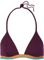 Eres Cordoba Panama Whipstitched Triangle Bikini Top - Grape