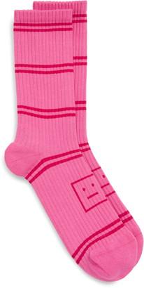 Acne Studios Face Logo Stripe Socks