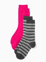 Kate Spade Cashmere stripe sparkle sock set