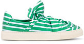 Ports 1961 striped sneakers - women - Cotton/rubber/Leather - 40