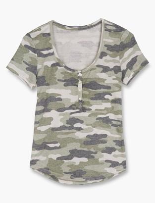 Camouflage Henley Tee