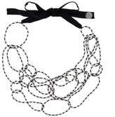 Maria Calderara beaded chain necklace