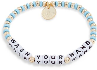 Little Words Project Wash Your Hands Beaded Stretch Bracelet