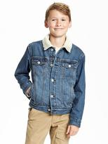 Old Navy Sherpa-Lined Trucker Jacket for Boys