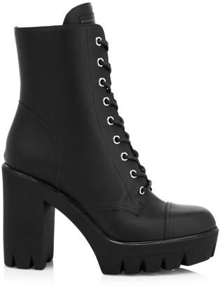 Giuseppe Zanotti Moyra Leather Combat Boots