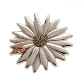 Tiffany & Co. 925 Sterling Silver 18K Yellow Gold Daisy Ladybug Pin