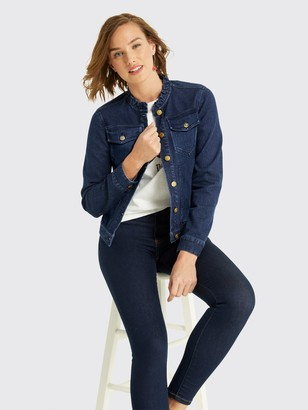 Draper James Ruffle Denim Jacket