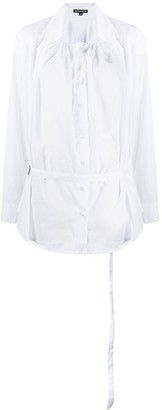 Ann Demeulemeester Elasticated Neckline Cotton Shirt
