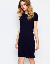 People Tree Organic Fairtrade Cotton Light Weight Knitted T-Shirt Dress with Pockets