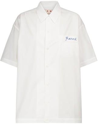 Marni Embroidered cotton shirt