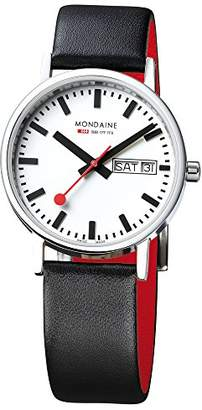 Mondaine Official Swiss Railways Watch Classic Women's/ Men's Watch Quartz Watch with Date and Black Leather Strap
