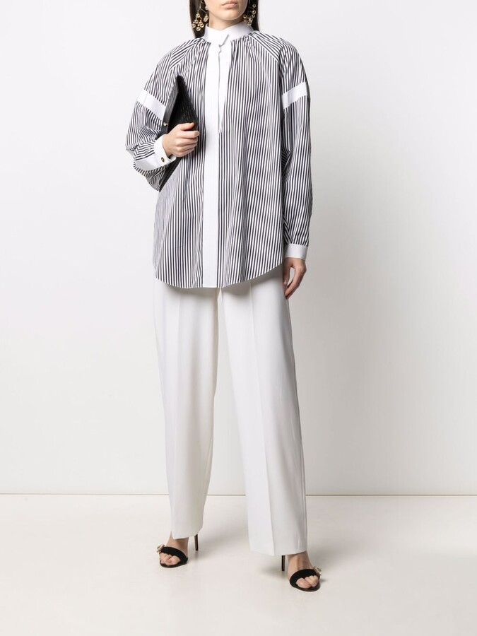 Thumbnail for your product : Maison Rabih Kayrouz Striped Loose-Fit Blouse