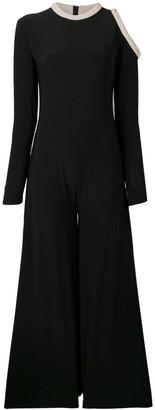Atu Body Couture Cut-Out Shoulder Jumpsuit