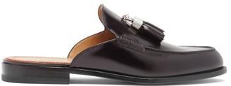 Christian Louboutin Rivaslide Tasselled Leather Backless Loafers - Black