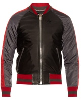 Givenchy Contrast-trim Leather And Nylon Bomber Jacket