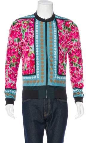 Dolce & Gabbana Floral Print Bomber Jacket w/ Tags