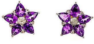Arthur Marder Fine Jewelry Silver 0.42 Ct. Tw. Diamond & Amethyst Earrings