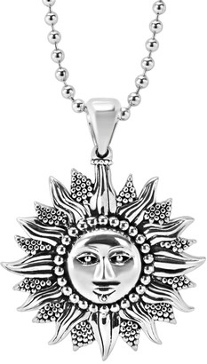 Lagos Sterling Silver Beaded Celestial Sun Pendant Necklace
