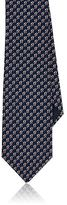 Lanvin Men's Geometric-Print Silk Satin Necktie
