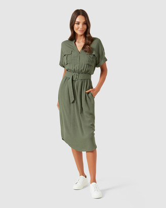 French Connection Utility Shirt Dress