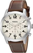 Fossil Men's Pilot 54-FS5146 Brown Watch