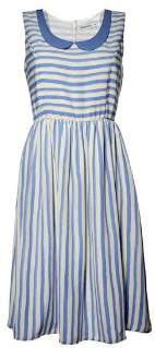 Rules By Mary Rules by Mary - Stripe Sky Annie Dress - S - Blue/White