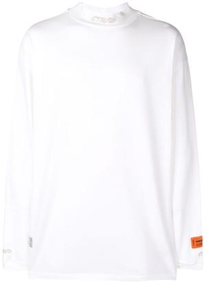 Heron Preston stand up collar sweater