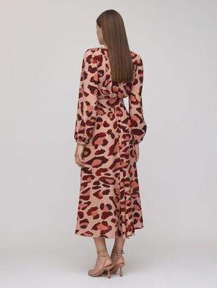 Maria Lucia Hohan Rury Printed Crepe Midi Dress