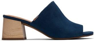 Toms Majolica Blue Suede Women's Grace Mule Sandals
