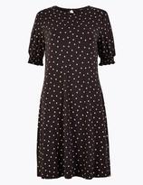 Marks and Spencer Jersey Polka Dot Swing Dress