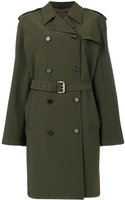 Prada Pre Owned Belted Trench Coat