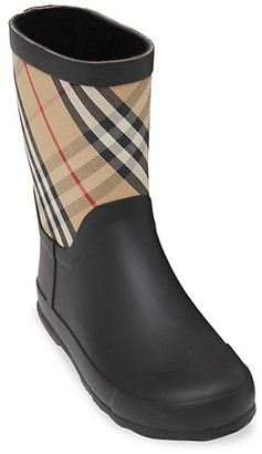 Burberry Little Girl's & Girl's Ranmoor Check Rain Boots