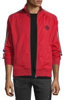 Just Cavalli Striped-Sleeve Zip Track Jacket, Red