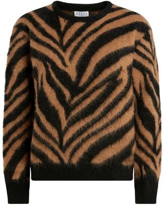 Claudie Pierlot Zebra Print Sweater