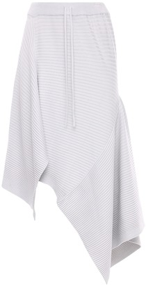 Marques Almeida Asymmetric Viscose Blend Knit Midi Skirt