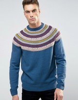 Bellfield Reverse Jacquad Knitted Holidays Sweater