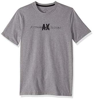 Armani Exchange A|X Men's Short Sleeve Crew Neck Logo T-Shirt