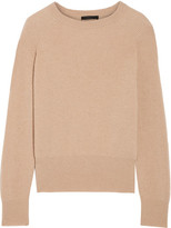 The Row Lenni Ribbed Camel Hair Sweater - Sand