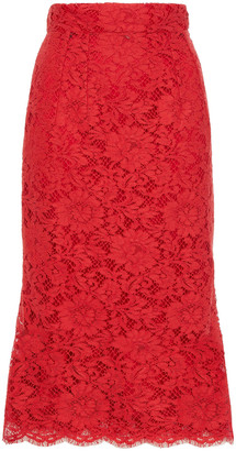 Dolce & Gabbana Corded Lace Pencil Skirt