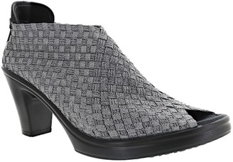 Bernie Mev. Pull-On Open Toe Heeled Slides - Claire
